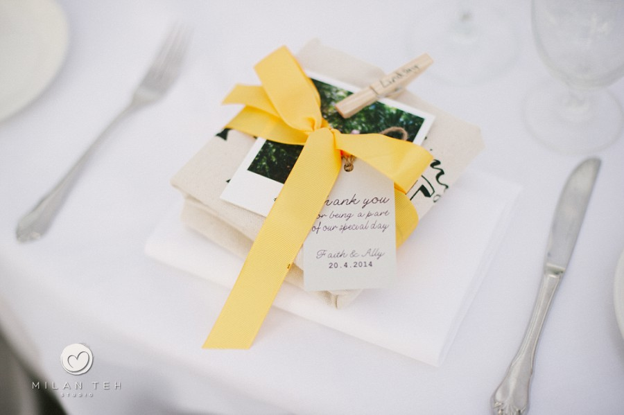 personalized wedding reception thank you card