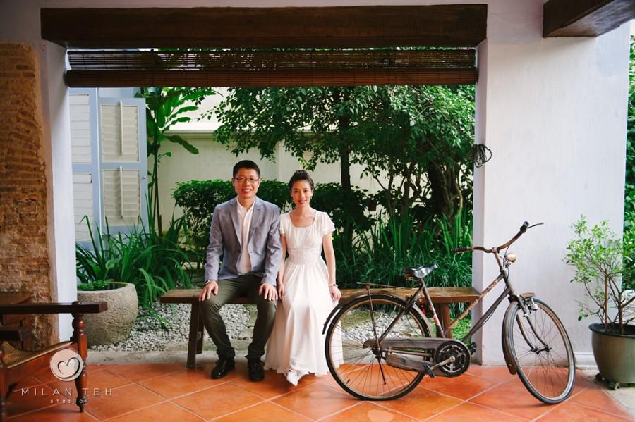 prewedding couple portrait at 23 love lane penang