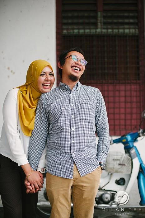 smiling malay couple photo