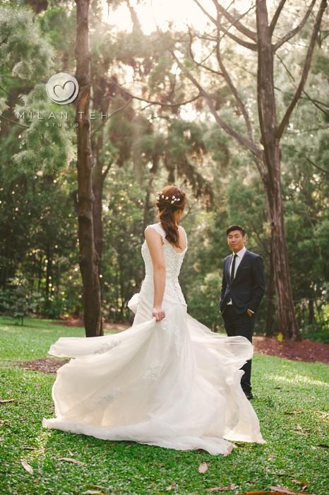 prewedding at botanic garden