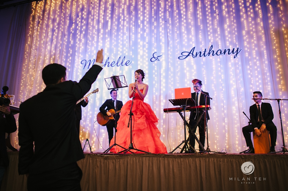 penang e&o hotel wedding dinner bride performance