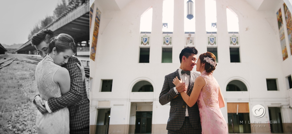 prewedding photo at tanjong pagar railway station singapore
