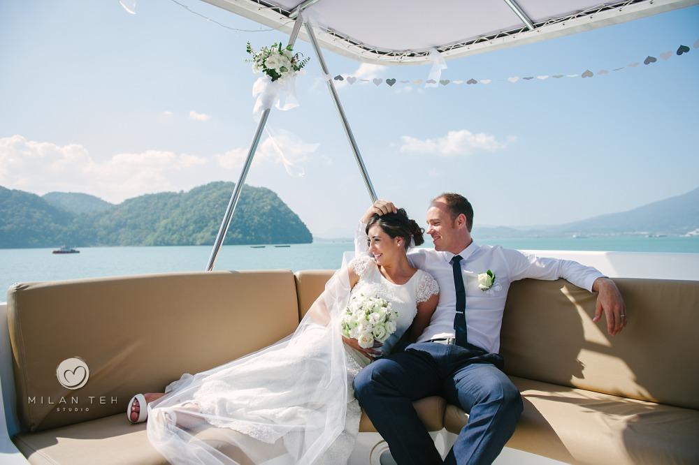 langkawi wedding on yacht