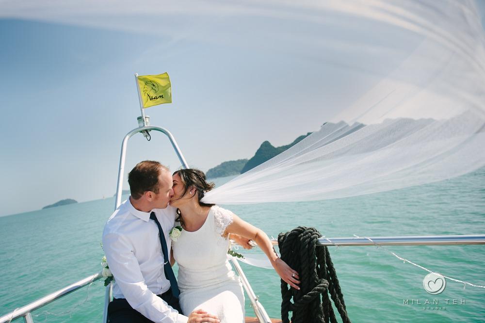 wedding on yacht langkawi