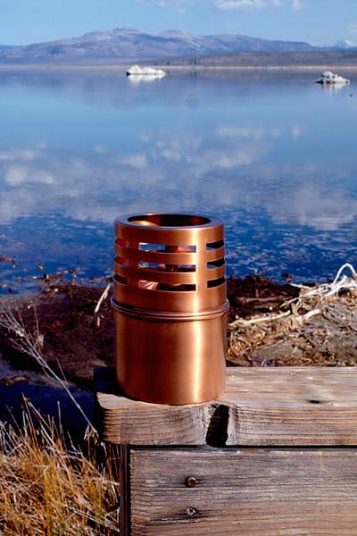 Garden table oil lamp