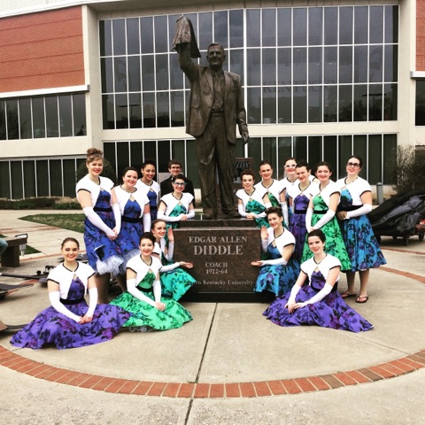 The Fairmont Winter Guard Posing Outside Diddle Arena Where They Were Named Regional Champions!