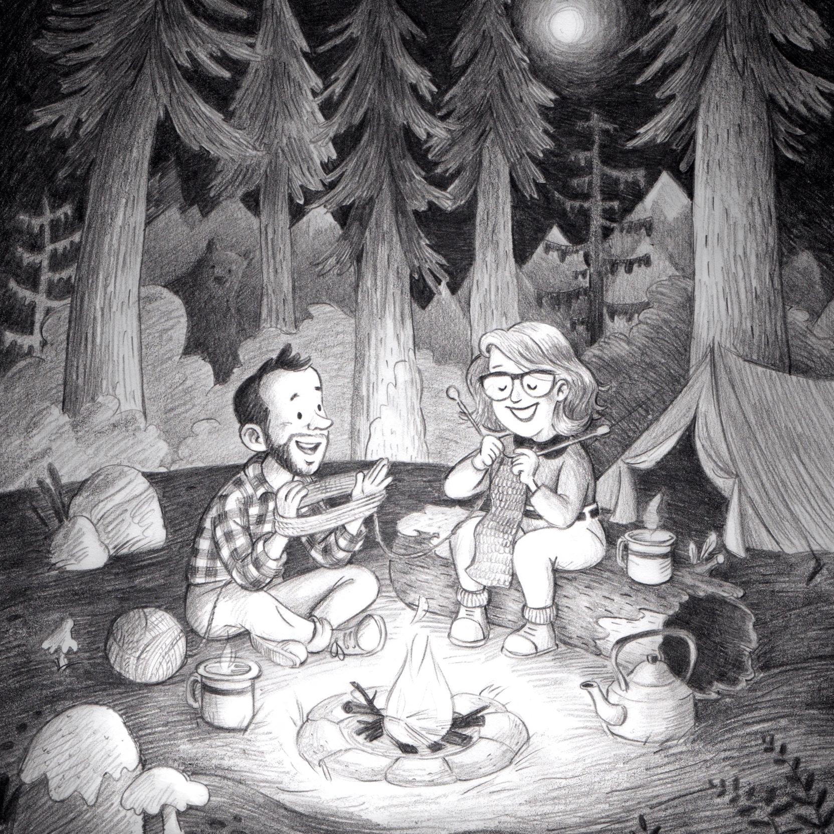 Goodbye drawing for Maarten & Linde