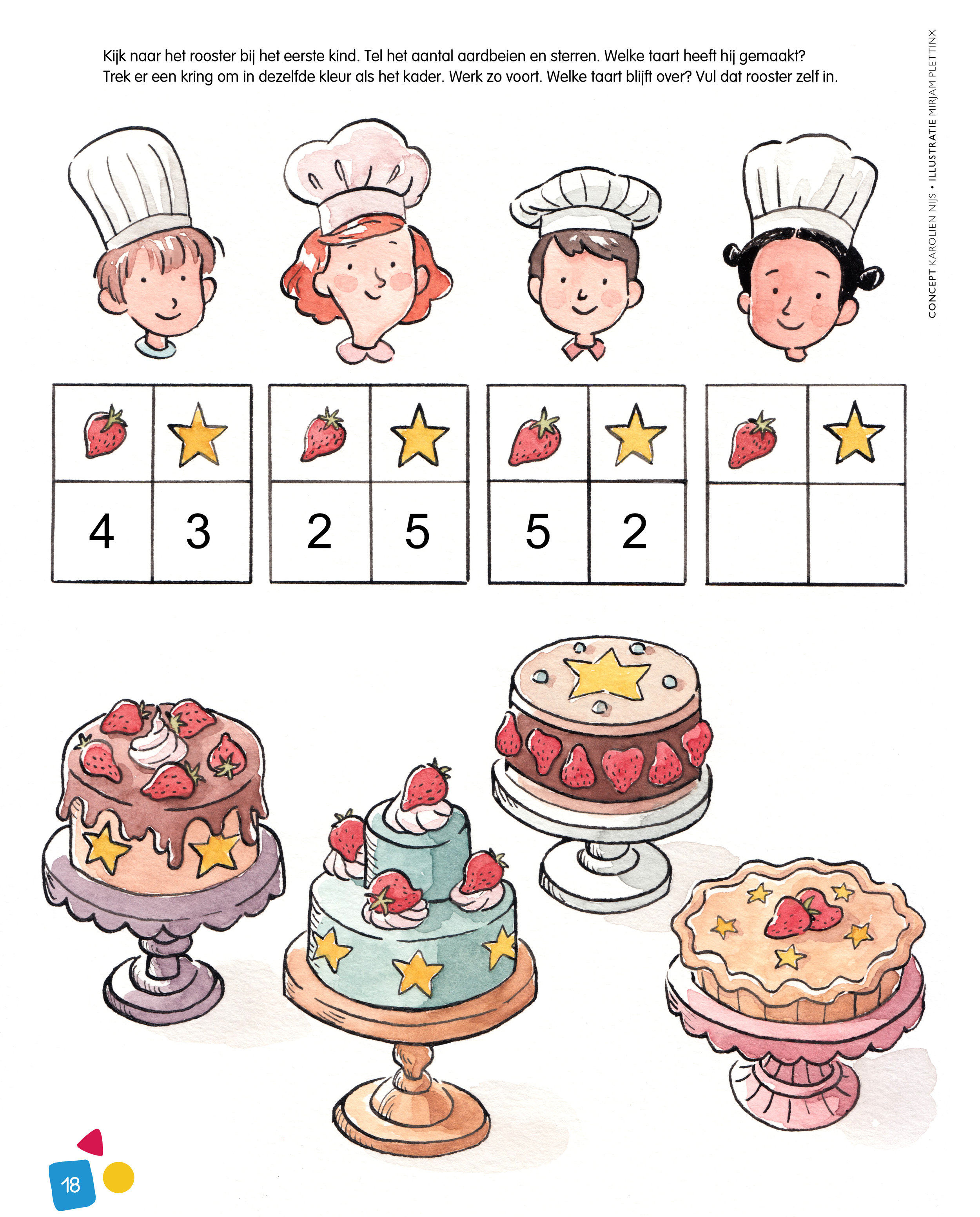 Chefs and cakes for Doremi.