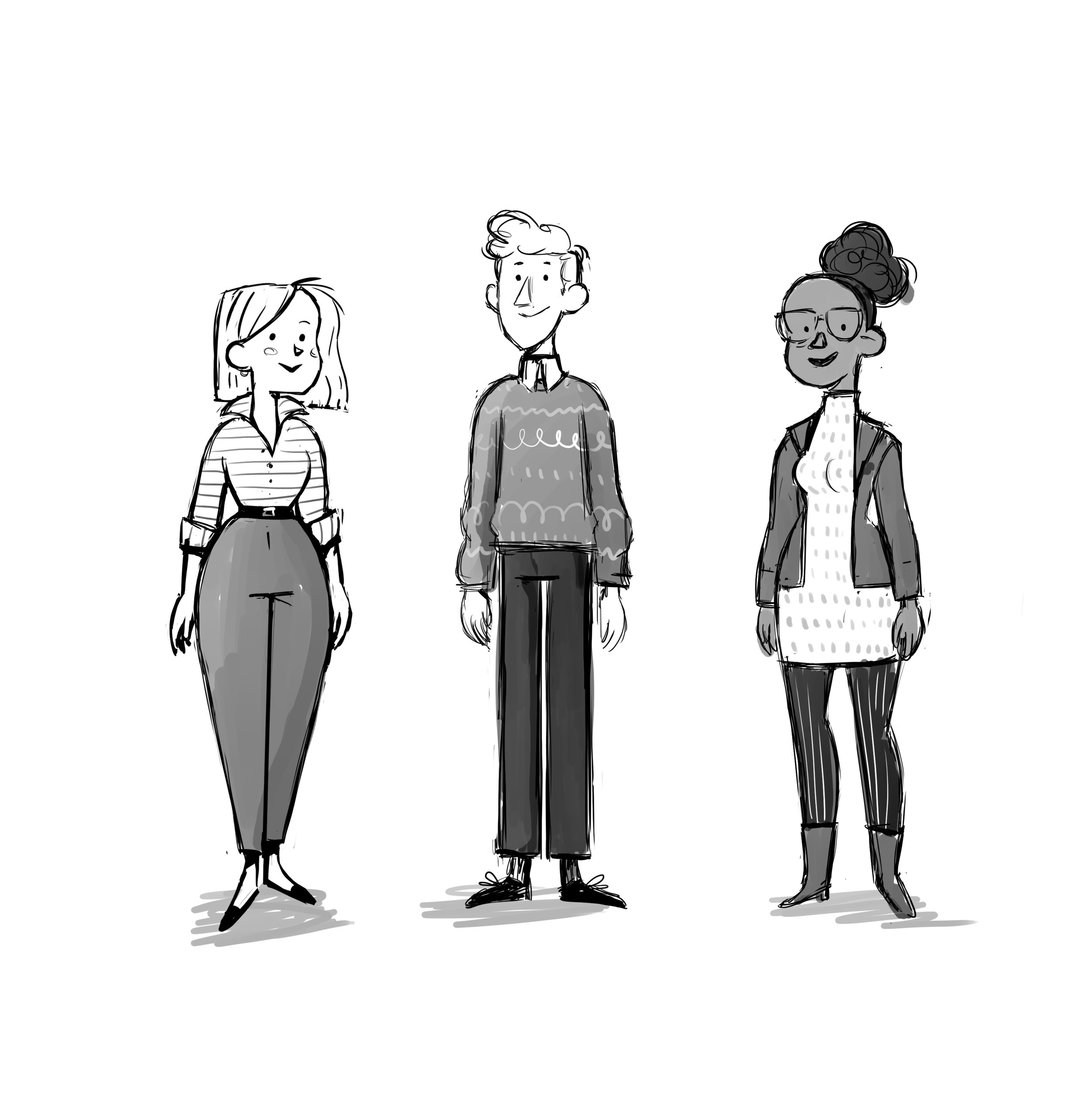 More character designs for Tinmouse.