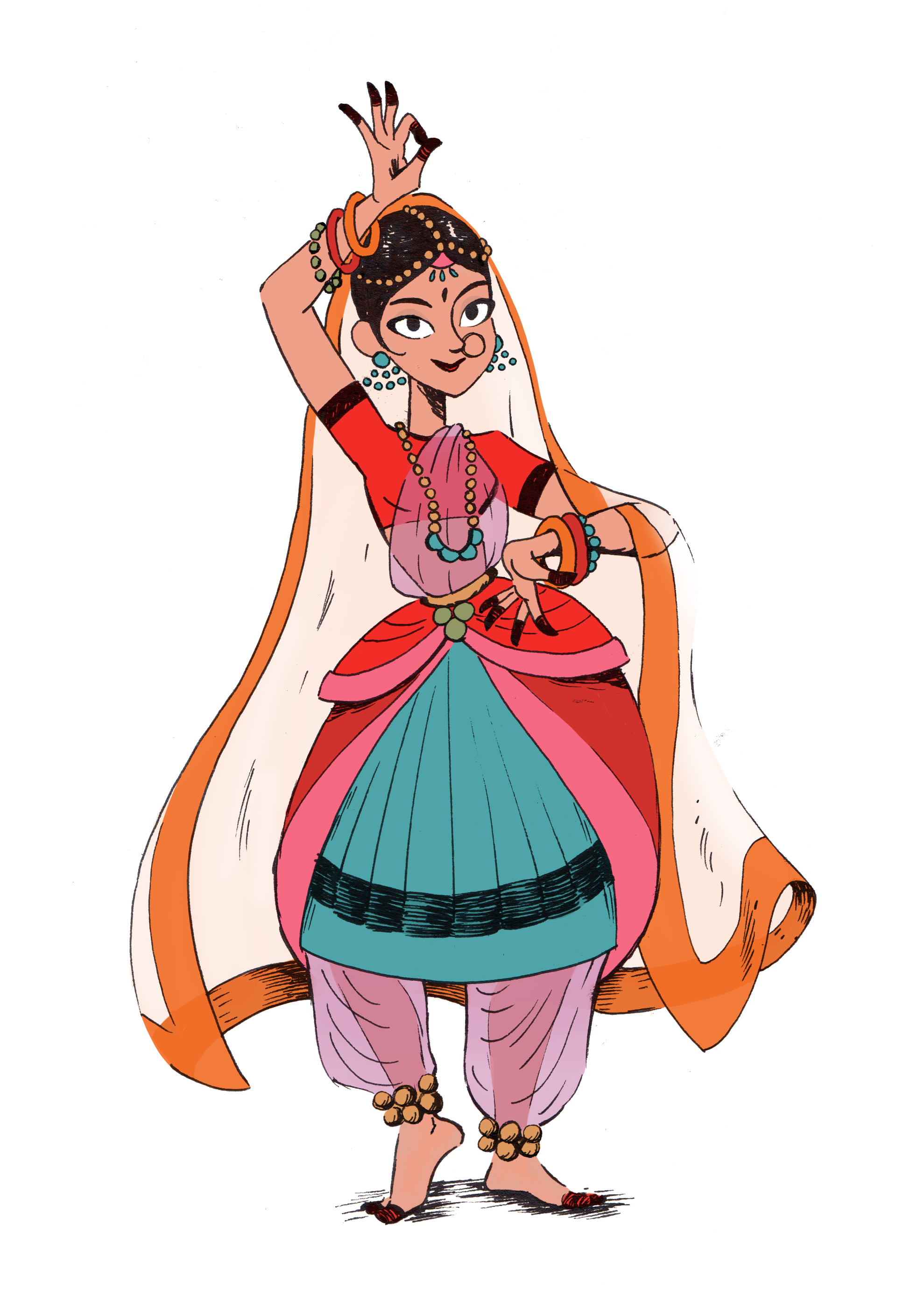 'Indian Dancer', an entry for the Character Design Challenge.