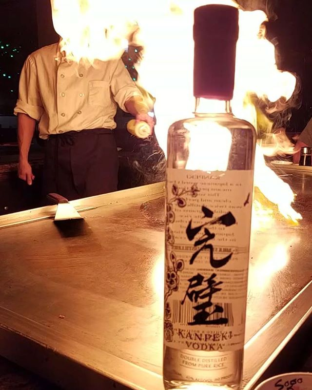 Our #kanpeki #rice #vodka is now being sold at @sogo_hibachi_denville . Had a great time there last night at our small company Christmas party. The food and service was fantastic! All except for @raynalynn47 's boogers in the noodles. 😉 #drinklocalnj #drinklocal #drinkcraftnotcrap #milkstreetdistillery #perfection #ricevodka #riceonice #town