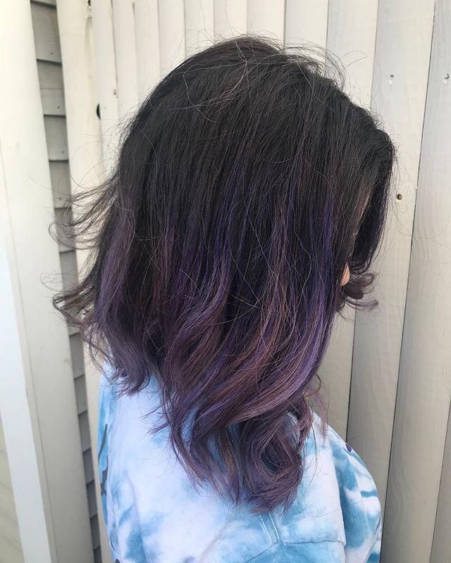 Purple purple 💜 done with @pulpriothair by our stylist @beautybyleeann @lee_ann5