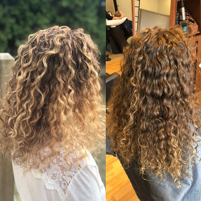NEW TECHNIQUE ALERT🚨 for our beautiful curly haired gals!!! Pintura highlights and dry cut all done by Kayla Lucente • • • • • • • • • • • • • • • #curlyhair #curlyhairstyles #curlynaturalhair #curlygirlmethod #curly_hair #curlybeauties #curlycommunity #pintura #pinturahighlights #curlyhaircare #hairstyles #haircolor #paulmitchell #licensed #hairsalon