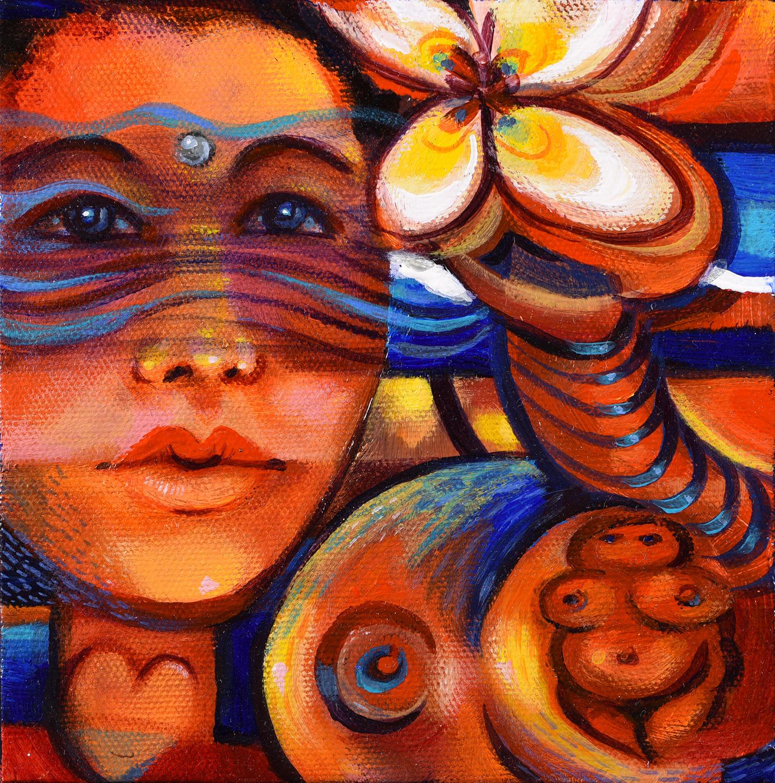 Painting by Pennie Brownlee