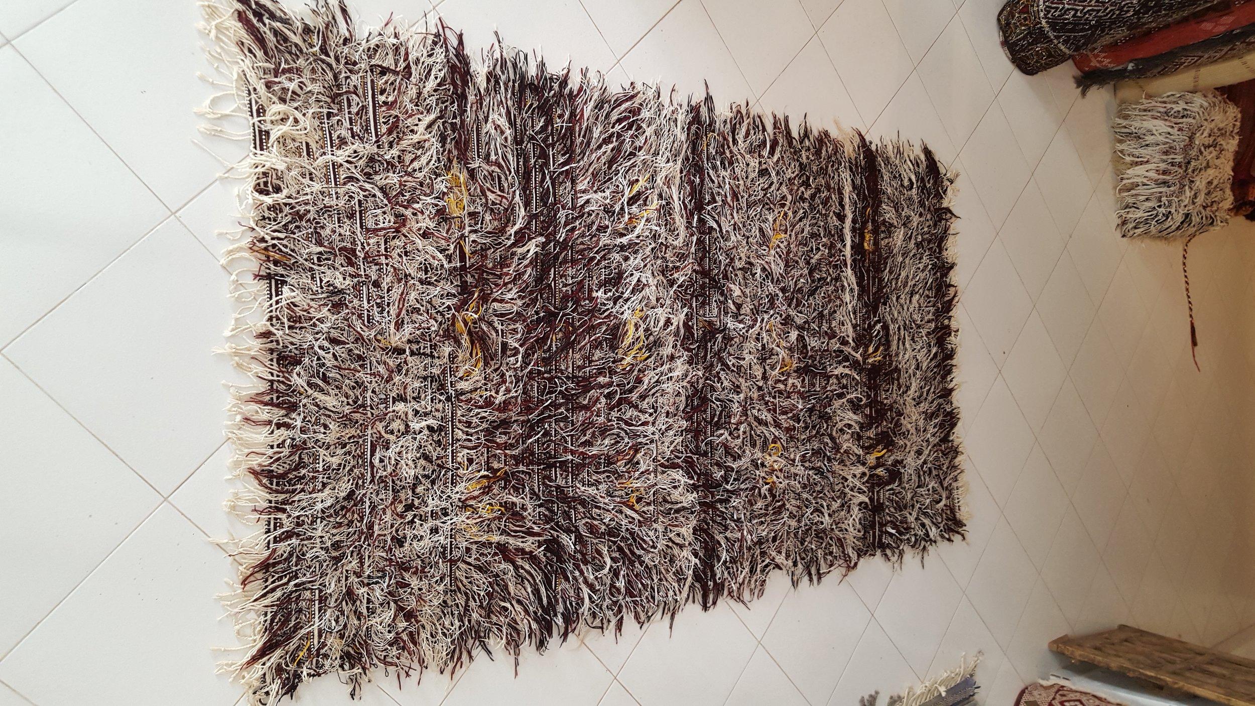 beni Ouarain Wedding Blanket - Moroccan berber carpets - Rare Moroccan Wedding Blanket.jpg