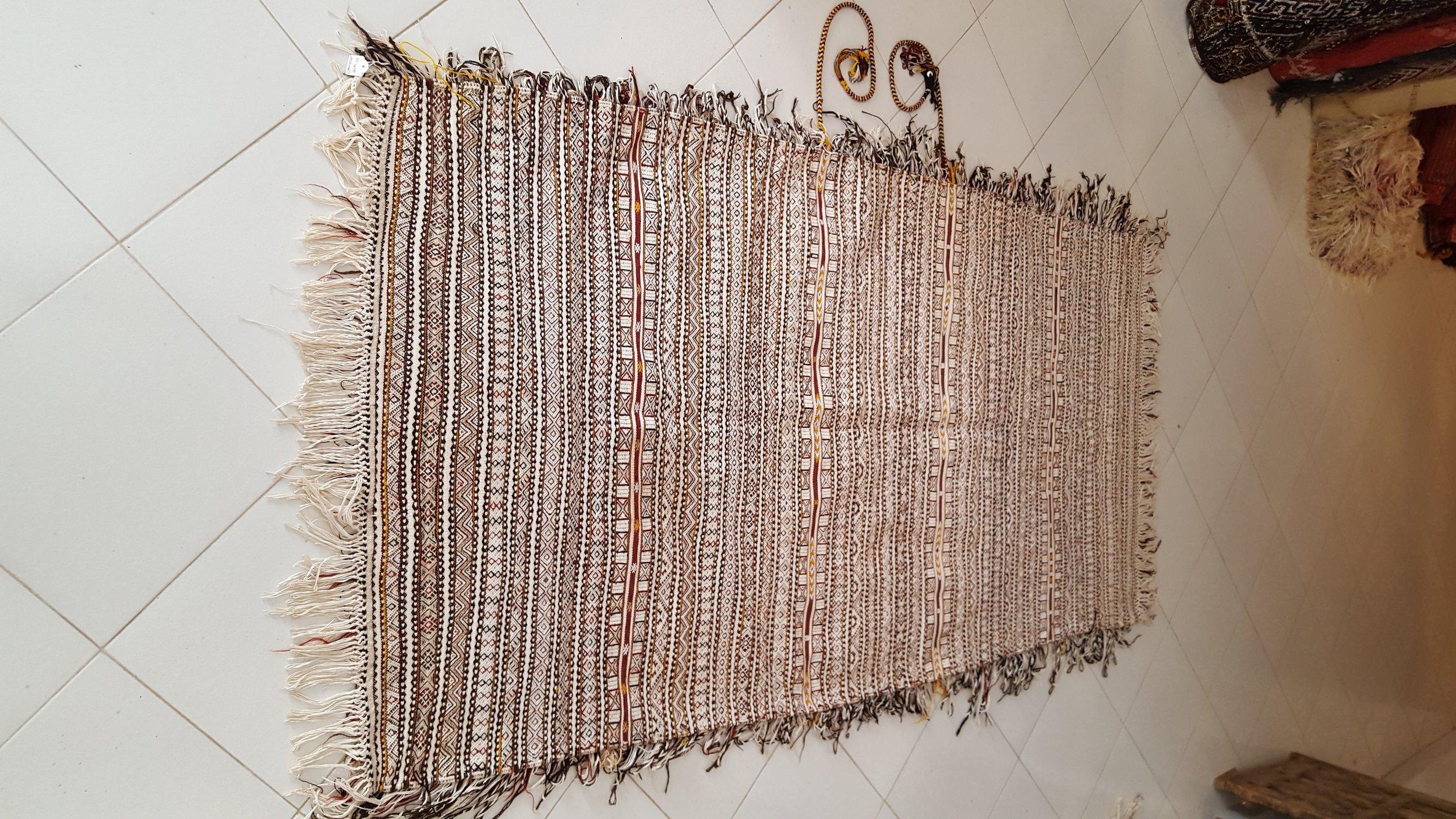 beni Ouarain Handira wedding blanket - Moroccan berber carpets - Rare Moroccan Wedding Blanket.jpg