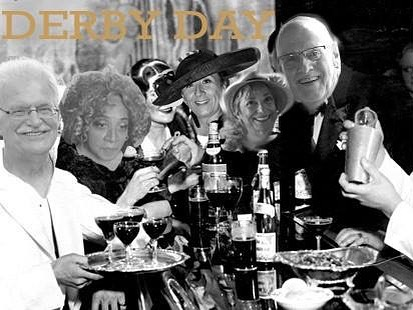 Pete, Betty, Carmen, Cheryl, and Jim are all ready for Derby! Are you? 😂 feel free to bad photoshop yourselves in your 20s or derby best and tag us.