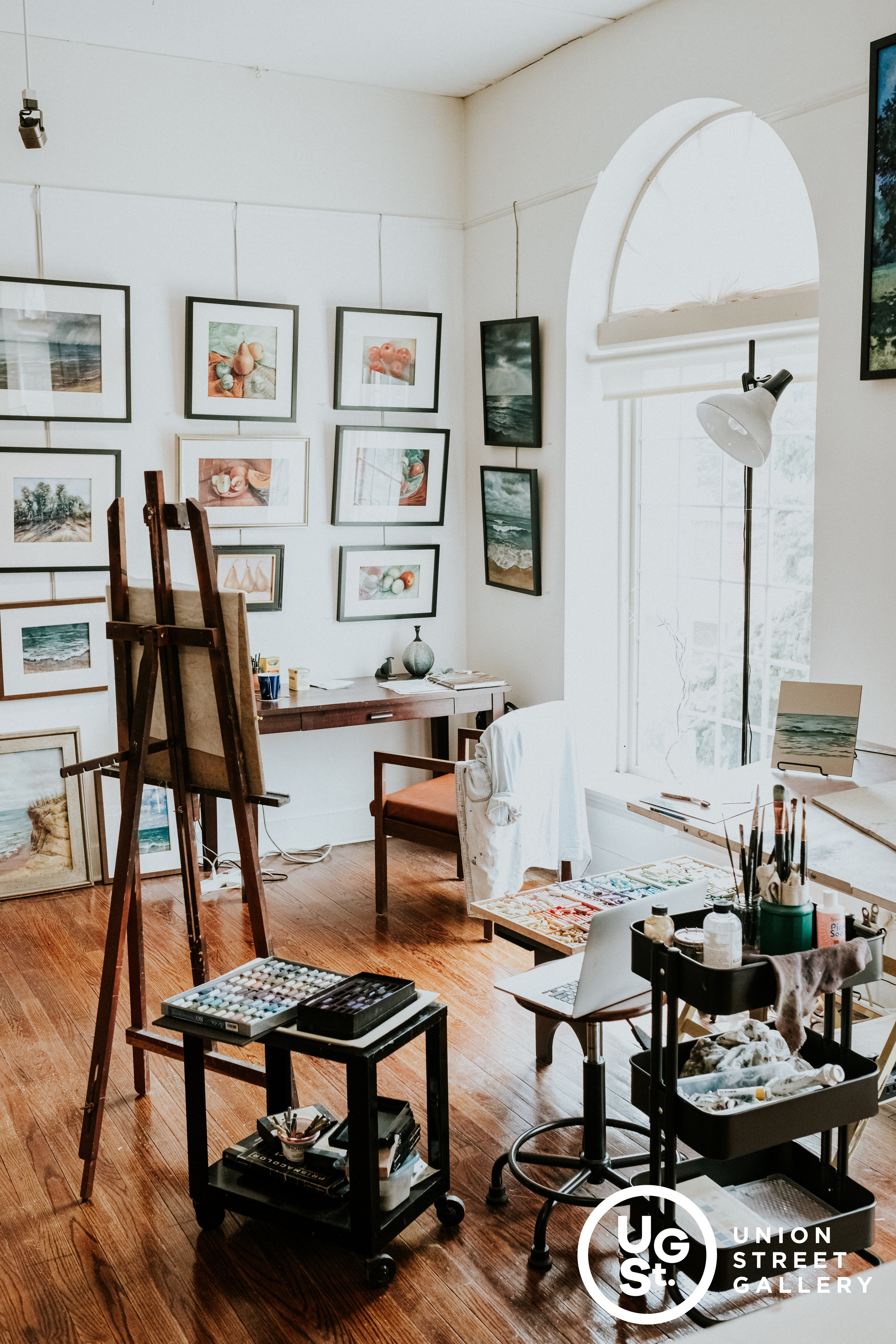 Mary Ann Trzyna's Studio half of a shared space between her and another artist Marikay Peter-Woodlock.