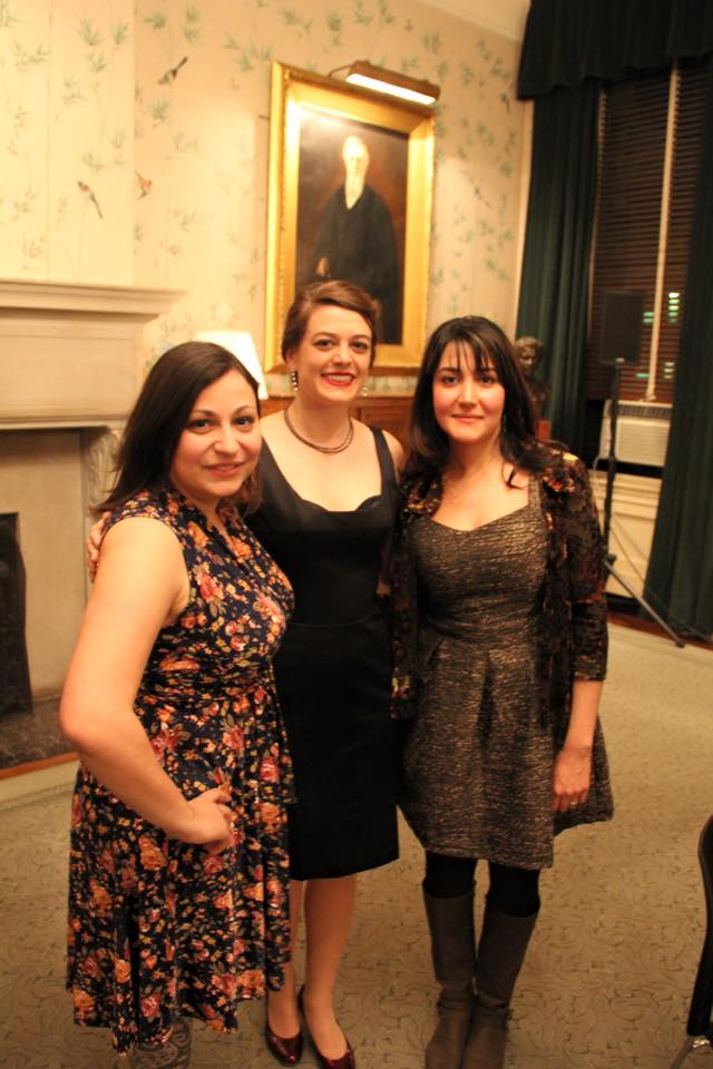 After the world premier of two works written for The Moirae Ensemble by Marie Incontrera (left) and Gity Razaz (right) at The Sulzberger Parlor at Barnard College.