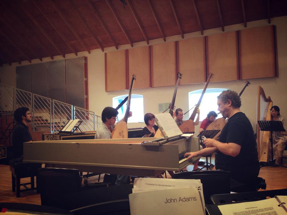 A sea of continuo led by Richard Egarr. How lucky am I that I got to sing with these fine folks?