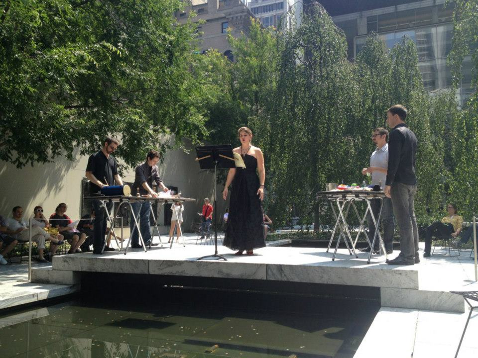 This time with Third Coast Percussion in MoMA's Garden.