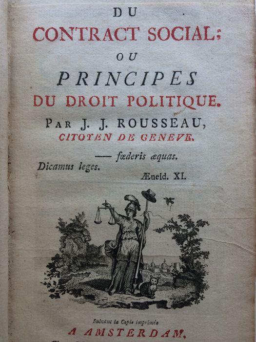 A  Contrat social első kiadása, Amsterdam, 1762