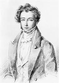 Alexis de Tocqueville (Ismeretlen művész rajza.  Beinecke Rare Books & Manuscripts Library,  Yale University)