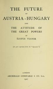 Ausztria-Magyarország jövője, 1907