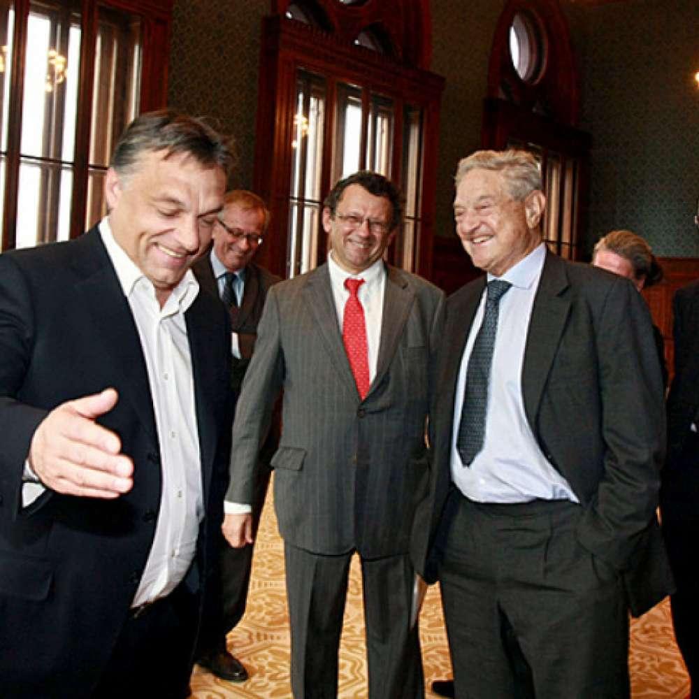 Orbán Viktor és Soros György, amikor még jóban voltak   (Pelsőczy Csaba fotója)
