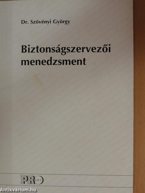 Dr. Szövényi György szakkönyve