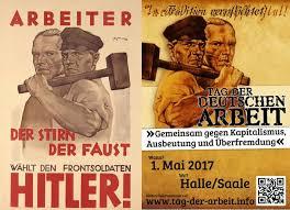A német munka napja. Együtt a kapitalizmus,  a kizsákmányolás és az idegenuralom ellen