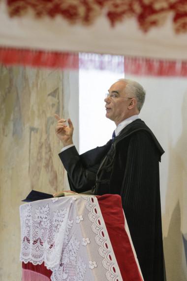 Balog Zoltán még református lelkészként, mielőtt politikus lett (Ceglédi Zsolt felvétele)