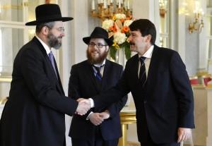 Az Egységes Magyarországi Izraelita Hitközség vezetői Áder János államfővel