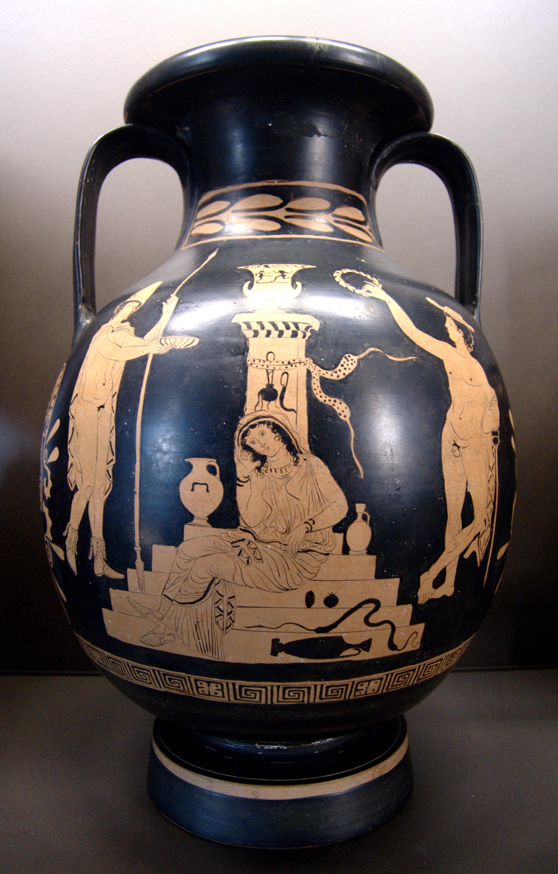 Oresztész, Élektra, Hermész  (Louvre)