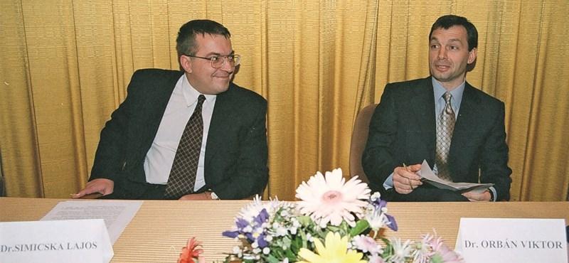 Simicska Lajos és Orbán Viktor. Akkor még barátok voltak