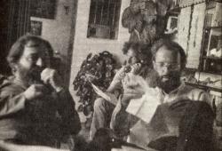 Bence György, Kenedi János, Kis János  a Bibó-emlékkönyv szerkesztése idején, 1980  (Halda Alíz felvétele)