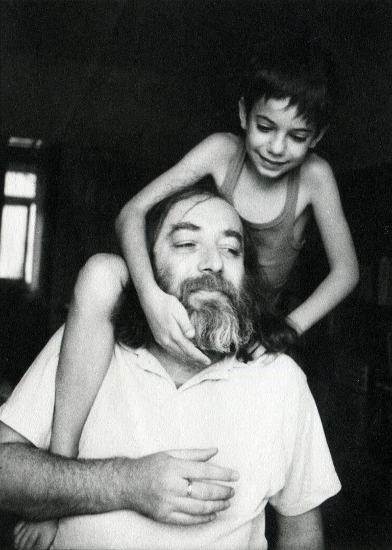 Kisbali László a kislányával, Pannival