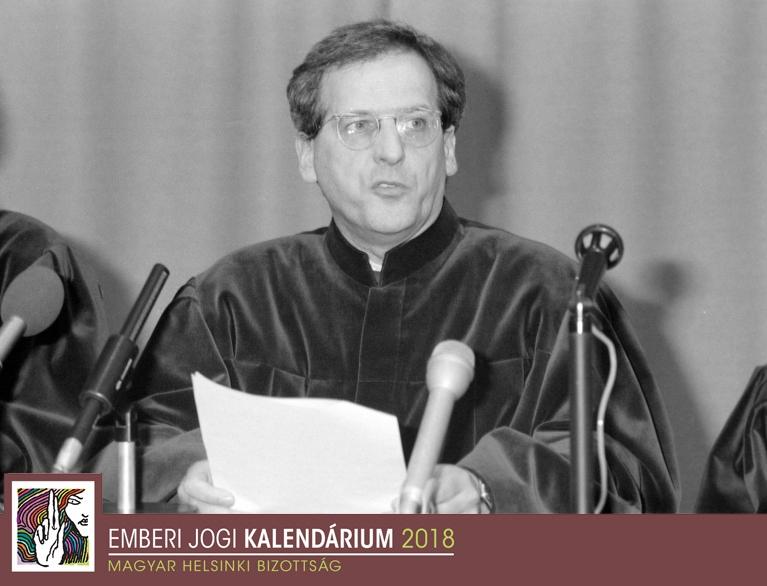 Sólyom László, az Alkotmánybíróság első elnöke