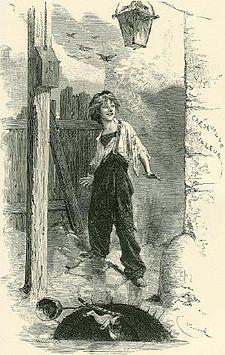Gavroche, a párizsi kis csöves  (Émile Bayard rajza)