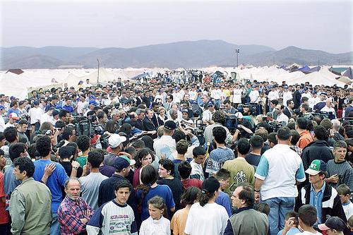 Koszovói albán menekültek Macedóniában