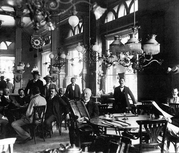 A New York kávéház megnyitása napján,  1894. október 23-án