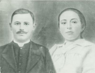 Veres Péter és Nádasdi Julianna esküvői képe, 1919