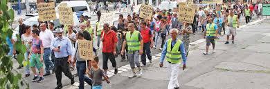 Gettóellenes Bizottság, Miskolc. Tüntetés a kitelepítés ellen
