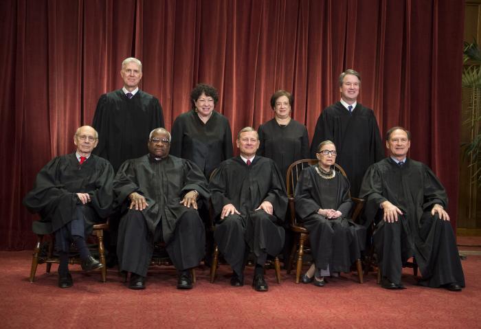 Az Egyesült Államok Legfelsőbb Bírósága, 2018  (Kevin Dietsch/UPI felvétele)