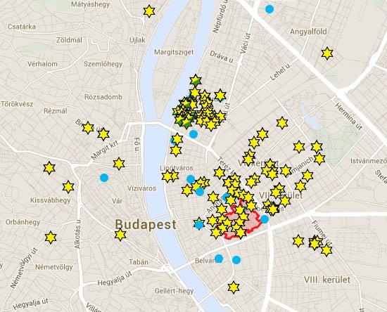 Csillagos házak Budapesten