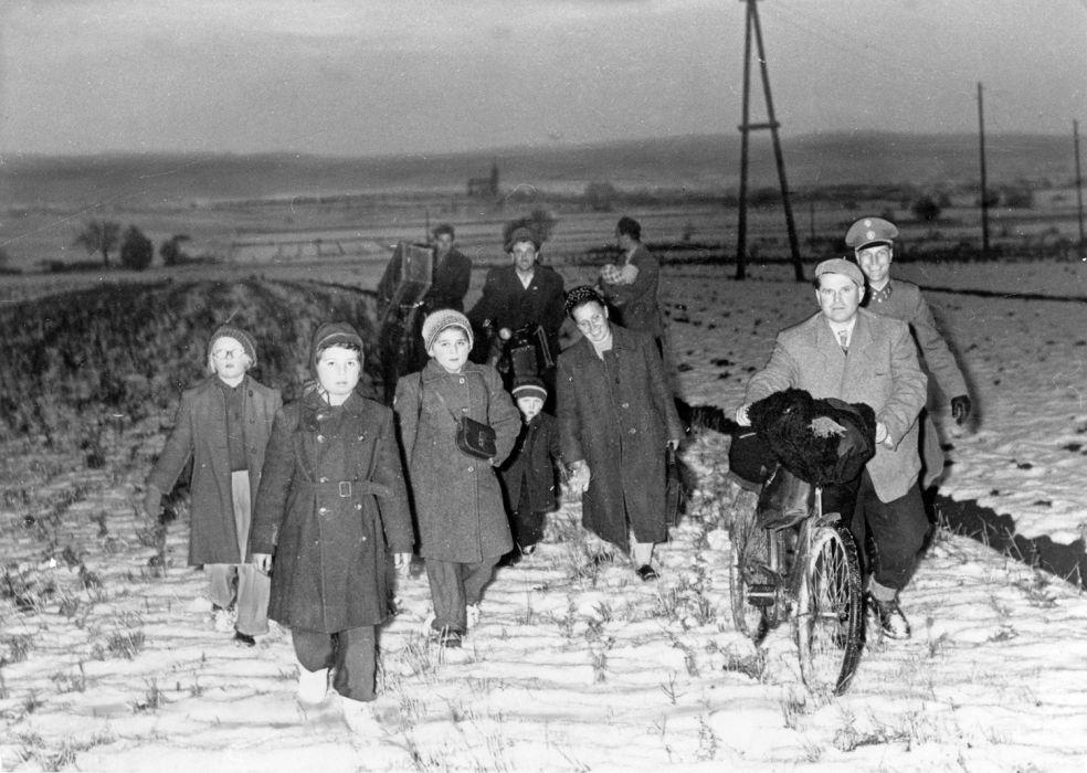 Menekülő magyarok Ausztriában, 1956