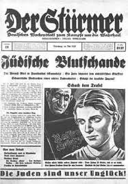 Der Stürmer – A náci Németország zsidóellenes  uszításra szakosodott lapja. Az újság állandó felirata:  A zsidók a balsorsunk