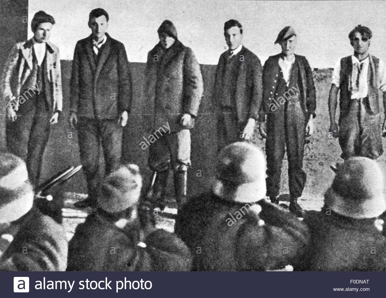 Szocialista felkelők kivégzése az ausztriai  polgárháborúban, 1934. február