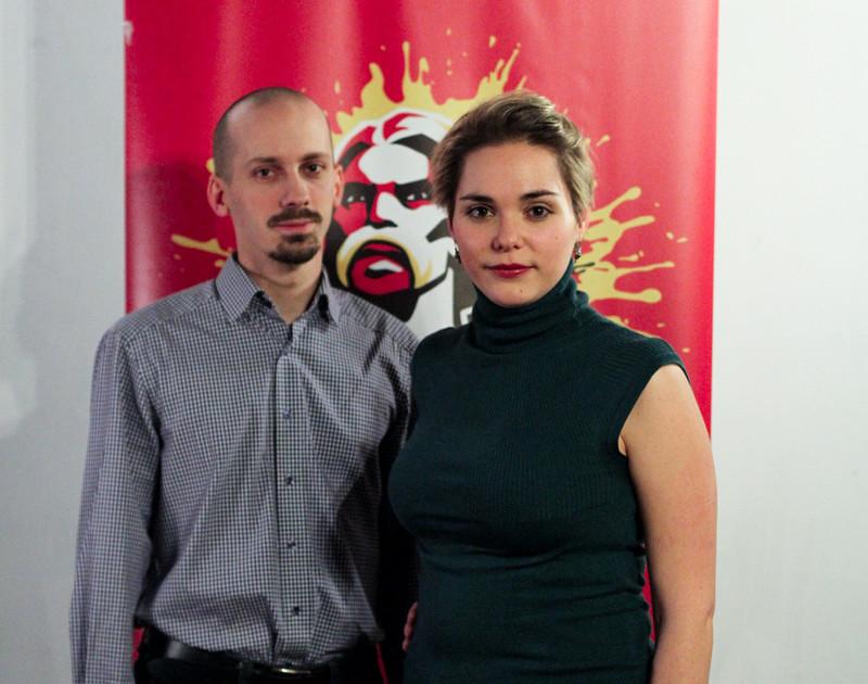 Istvánffy András, a Negyedik Köztársaság Párt elnöke és Papp Réka Kinga, a párt szóvivője