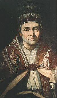 V. Celesztin. 1294 júliusában pápává  választották, de hat hónap múlva  lemondott a trónról. Halála után tizenhét  évvel szentté avatták